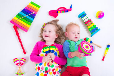 Starting as young as 3, children can begin learning about instruments. The key with this age is keeping it fun!