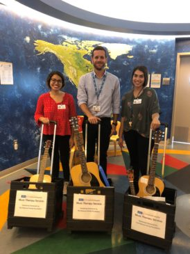 An image of the three new music therapy interns